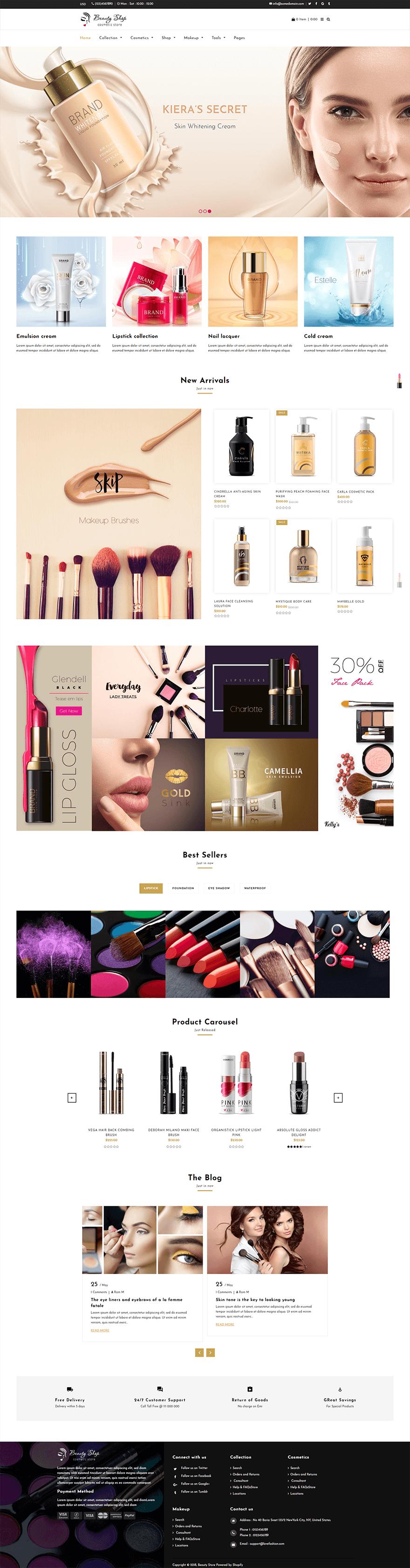 طراحی سایت فروشگاه لوازم ارایشی