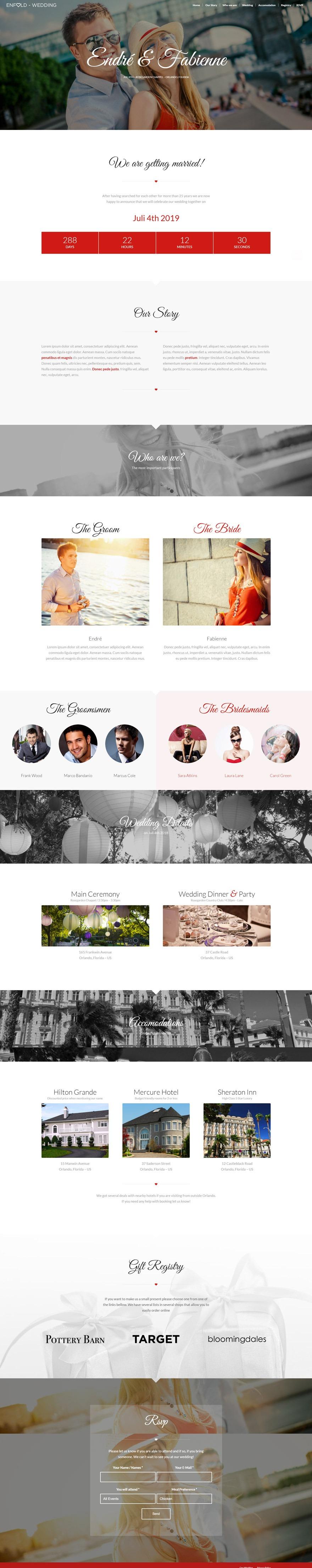 طراحی سایت عروسی