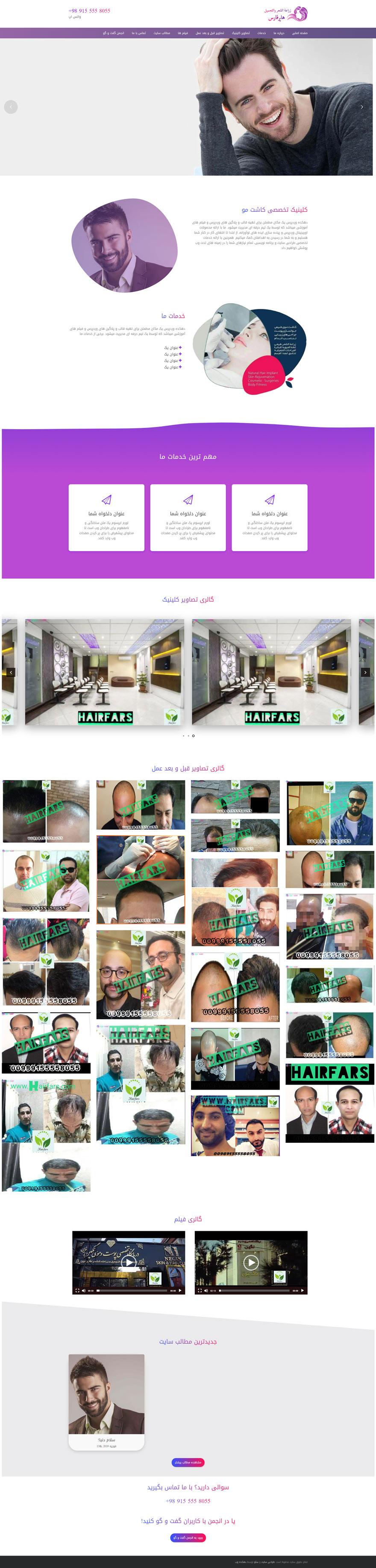 طراحی سایت هایر فارس